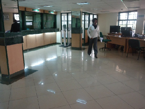 Interior of National Bank of Kenya, Nandi Hills Branch